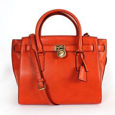 4b8174533ad6 MICHAEL Michael Kors Large Hamilton Traveler in Orange: Handbags: Amazon.com