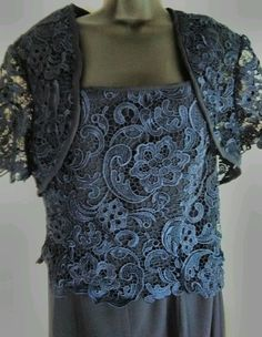 IZILADY Mother of the Brid A-line Chiffon Formal Dress with jacket navy sz14 | Clothing, Shoes & Accessories, Women's Clothing, Dresses | eBay!