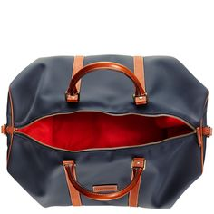 TRAVELTEQ'S WEEKENDER NYLON AND LEATHER HOLDALL