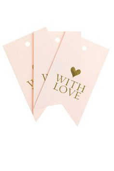 with love - gift tags