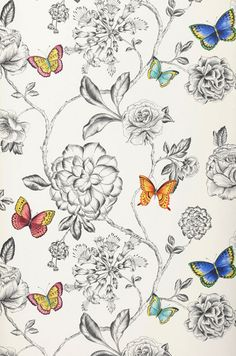 Cordula | Floral wallpaper | Wallpaper patterns | Wallpaper from the 70s