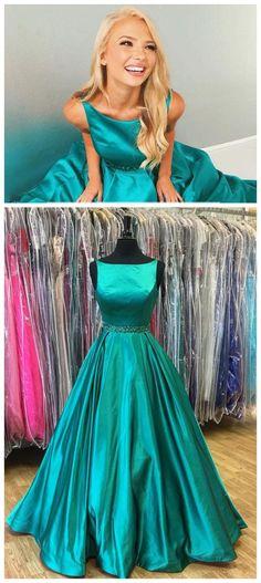 Elegant O-Neck A-Line Prom Dresses,Long Prom Dresses,Cheap Prom Dresses, Evening Dress Prom Gowns, Formal Women Dress,Prom Dress