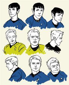 Spock, bones, and kirk