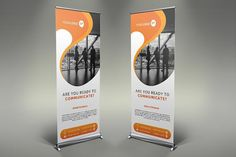 Communication Roll Up Banner #105. Presentation Templates Presentation Design Template, Design Templates, Logo Templates, Roll Up Design, Rollup Banner, Best Resume Template, Cool Business Cards, Photoshop Design, Paint Markers