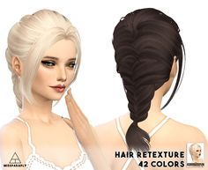 Hair retexture / Skysims 149/ 42 colors