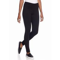 Hue Black Ottoman Paneled Ponte Leggings ($54) ❤ liked on Polyvore featuring pants, leggings, black, black pants, ponte leggings, ponte knit pants, ponte pants and black leggings