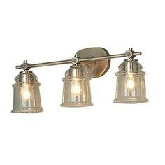 $80 - allen   roth 3-Light Winsbrell Brushed Nickel Bathroom Vanity Light