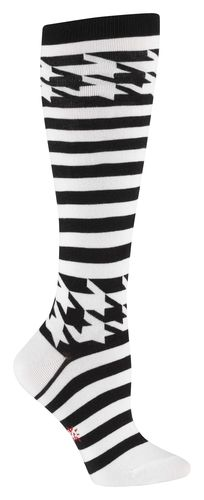 Mondo Striped Houndstooth Knee Socks. I would kill a man to own these. Legit.