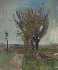 Joan Eardley A Country Road 1957 Oil on canvas Private collection Pastel Landscape, Landscape Artwork, Watercolor Landscape, Abstract Landscape, Glasgow, Abstract Sculpture, Contemporary Paintings, Artist Art, Painting Inspiration