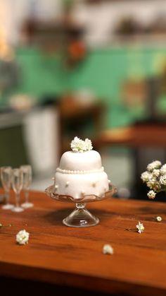 Miniature Crafts, Miniature Food, Baking Videos, Food Videos, Cute Food, Yummy Food, Bolo Grande, Tiny Cooking, Rainbow Food