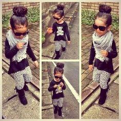 Black shades...check.....snow leopard girls tights....check, similar styles available at www.milanandoz.com