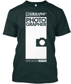 BLACK PHOTOGRAPHER Camerapixo T-Shirt