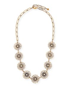 """Daisy Long Floral-Station Necklace, 34.5"""""""
