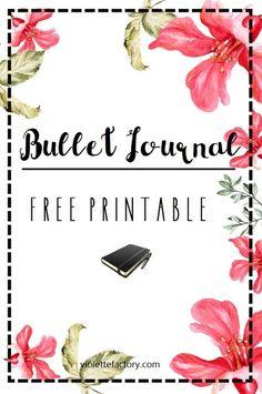 Free Printable Bullet Journal                                                                                                                                                     Plus