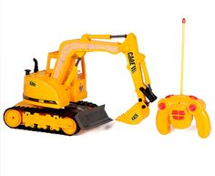 CAAE Tracked Hydraulic Excavator 1:45 7CH RTR RC Construction Truck - $19.95