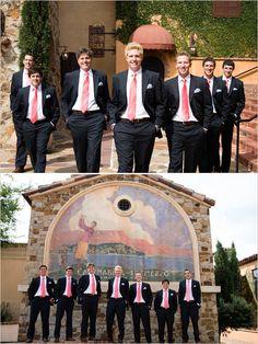 pink and navy groomsmen ideas #groom #pinkandnavy #weddingchicks http://www.weddingchicks.com/2014/04/07/playful-pink-and-navy-wedding/