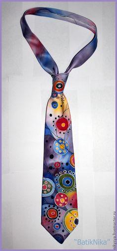 """Галстуки, бабочки ручной работы. Ярмарка Мастеров - ручная работа Галстук шелковый """"Фантазийный"""". Handmade."""