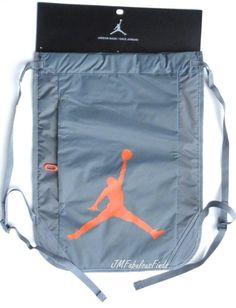 e39d34976e Nike Jordan Jumpman Gray Gym Sack Drawstring Bag Backpack 444778-068 for  sale online | eBay