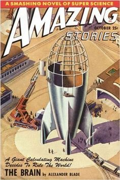science fiction action AMAZING STORIES vintage comic book cover poster 24X36