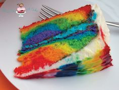 Bird On A Cake: Rainbow Tie Dye Cake. Such a pretty cake! I decided to use plain white frosting so it was a surprise when they cut into it! ;)