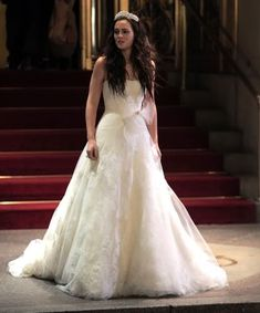 "Blair Waldorf's Wedding dress in ""Gossip Girl"" Her dress is by Vera Wang… truly my dream dress."