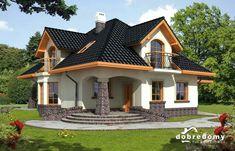 Ariadna I - Dobre Domy Flak & Abramowicz House Plans Mansion, House Floor Plans, Bungalow House Design, Modern House Design, Dream Home Design, Home Design Plans, Casas Country, Small Modern House Plans, House Design Pictures