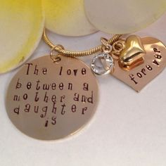Necklace Mother and Daughter Gold