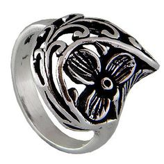 Flower Sterling Silver Ring by jewelkingthai on Etsy, $17.00