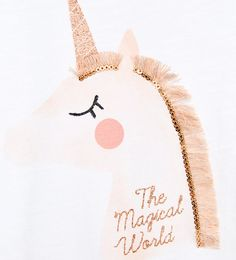 Image 4 of UNICORN APPLIQUÉ T-SHIRT from Zara