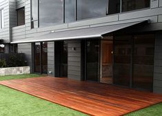 Retractable Awning-1 could do awning in a metal grey to match stainless steel railings outside