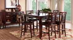 picture of Riverdale Cherry 5 Pc Square Counter Height Dining Room  from  Furniture