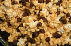 peanut butter & chocolate chip popcorn