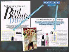 La revista Woman de este mes de enero también nos propone la Mousse Limpiadora de Matriskin como uno de los productos estrella que utilizan las celebrities para salvar su piel.