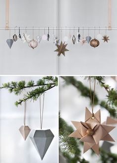 DIY Ornaments that will totally chic up any Christmas tree Christmas decoration, Kraft Christmas Christmas Mood, Noel Christmas, Merry Little Christmas, Modern Christmas, Scandinavian Christmas, Merry Xmas, All Things Christmas, Theme Noel, Diy Weihnachten