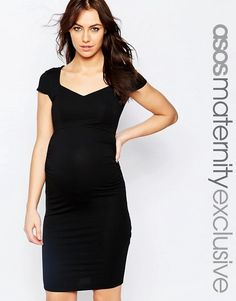 Rock a Bye Rosie at House of Fraser Black Lace Maternity Dress Party 8-16