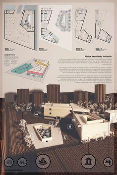 Lamina #2 de mi proyecto de titulación. Centro Civico Agrario en San Miguel de Allende: