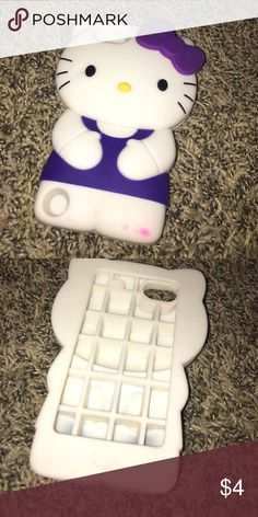 Hello kitty iPod 5 case iPod 5 hello kitty case. Only thing is that it has a pink stain in the bottom right corner Accessories Phone Cases