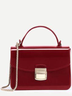 Shop Red Pushlock Closure Plastic Handbag With Chain online. SheIn offers Red Pushlock Closure Plastic Handbag With Chain & more to fit your fashionable needs.
