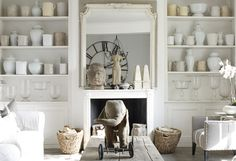 I have this magazine from a year ago, love the bookcases and all white!