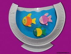 23 painting activities to do with children (and it& funny!) - Isabelleastier 58 - - 23 activités de peinture à réaliser avec des enfants (et c'est drôle !) 23 painting activities to do with children (and that& funny! Kids Crafts, Daycare Crafts, Sunday School Crafts, Summer Crafts, Toddler Crafts, Preschool Crafts, Craft Kids, Paper Plate Fish, Paper Plate Art