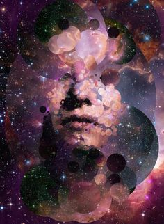 """An experiment in generative portraiture """" An automated process created human portraits as generative collages, using as sources some images from the hubble space telescope. Telescope Images, Hubble Space Telescope, Photomontage, Collages, Cosmos, Galaxy Drawings, Piercings, Hubble Images, Andromeda Galaxy"""