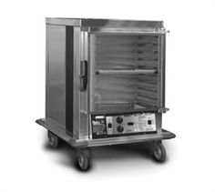 """EAGLE Mobile Panco® Proofing Cabinet, narrow, half-size, (8) removable wire slides on 2-1/4"""" centers, digital temperature control with LCD readout, adjustable humidity control, full 270º open swing Tuffak™ door, aluminum non-insulated with removable bottom-mount heater"""