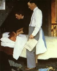 Freedom from Fear - The Four Freedoms series by Norman Rockwell