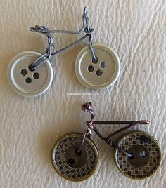 buttons bicycle craft