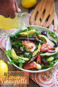 My go-to Lemon Vinaigrette #healthy #saladdressing #ad