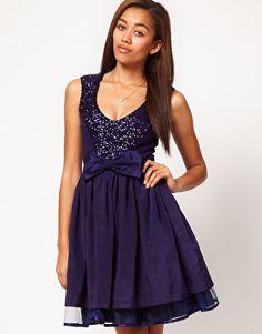 Potential Prom dress :'D : River Island Sequin Panel Skater Dress