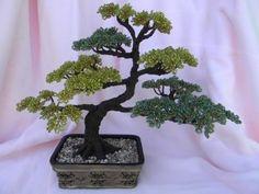 BONSAI TREE WIRE BEADED SCULPTURE HOME DECOR