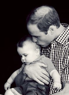 Prince William with his son, George. http://www.pinterest.com/okitts/love-it/