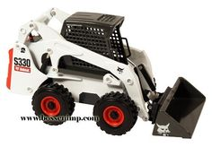 Bobcat Skid Loader S-330 1:25 Scale by CLOVER. $36.99. 1/25 Scale. Age Grade 14+  Diecast   Working conditions and strenuous jobs don't stand a chance against this powerful machine - with more horsepower, more capacity, more pusing power, and more drive torque!  If you need a heavy-duty loader for heavy-duty applications the S-330 is your machine  The real machine comes stndard with a supsension seat for added comfort and 2-speed travel for maximum productivity