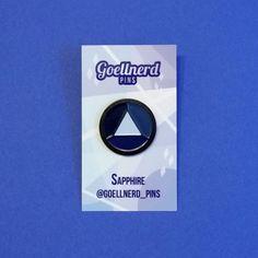 Steven Universe Sapphire Gem Enamel Pin by Goellnerd on Etsy